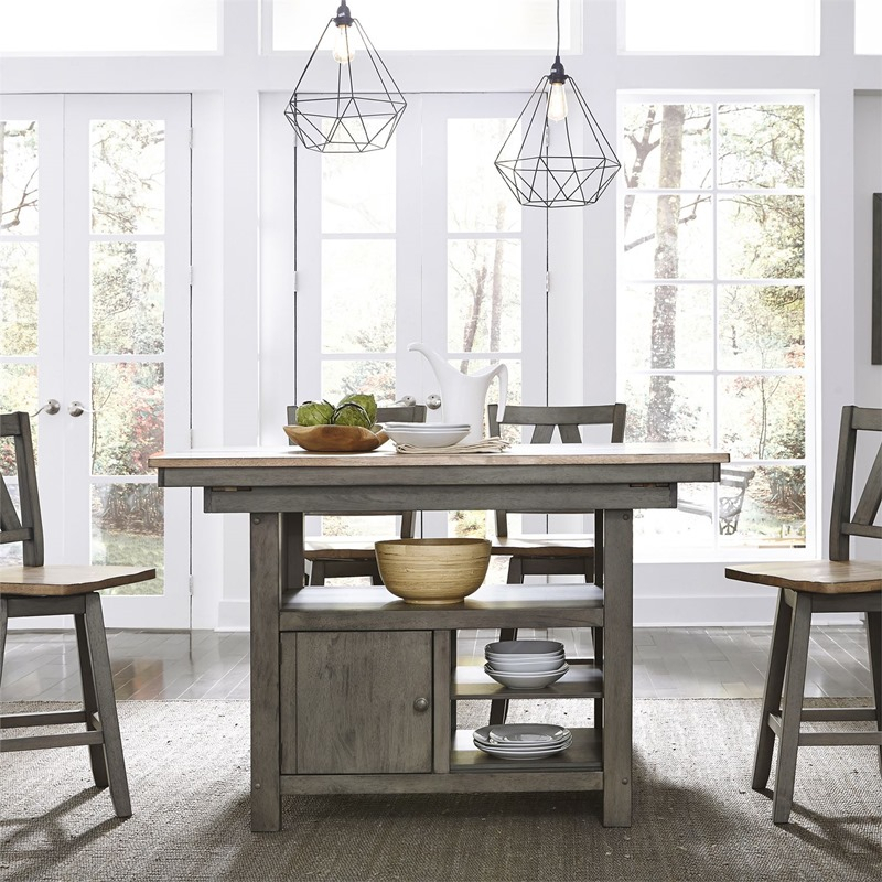 Liberty | 62 Cd 5Gts Lindsey Farm Counter Height Dining Intended For Most Current Charterville Counter Height Pedestal Dining Tables (View 14 of 15)