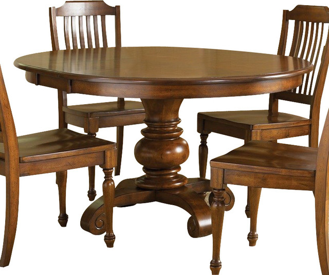 Liberty Furniture Americana 48 Inch Round Dining Table In Throughout Most Popular Leonila 48'' Trestle Dining Tables (View 8 of 15)