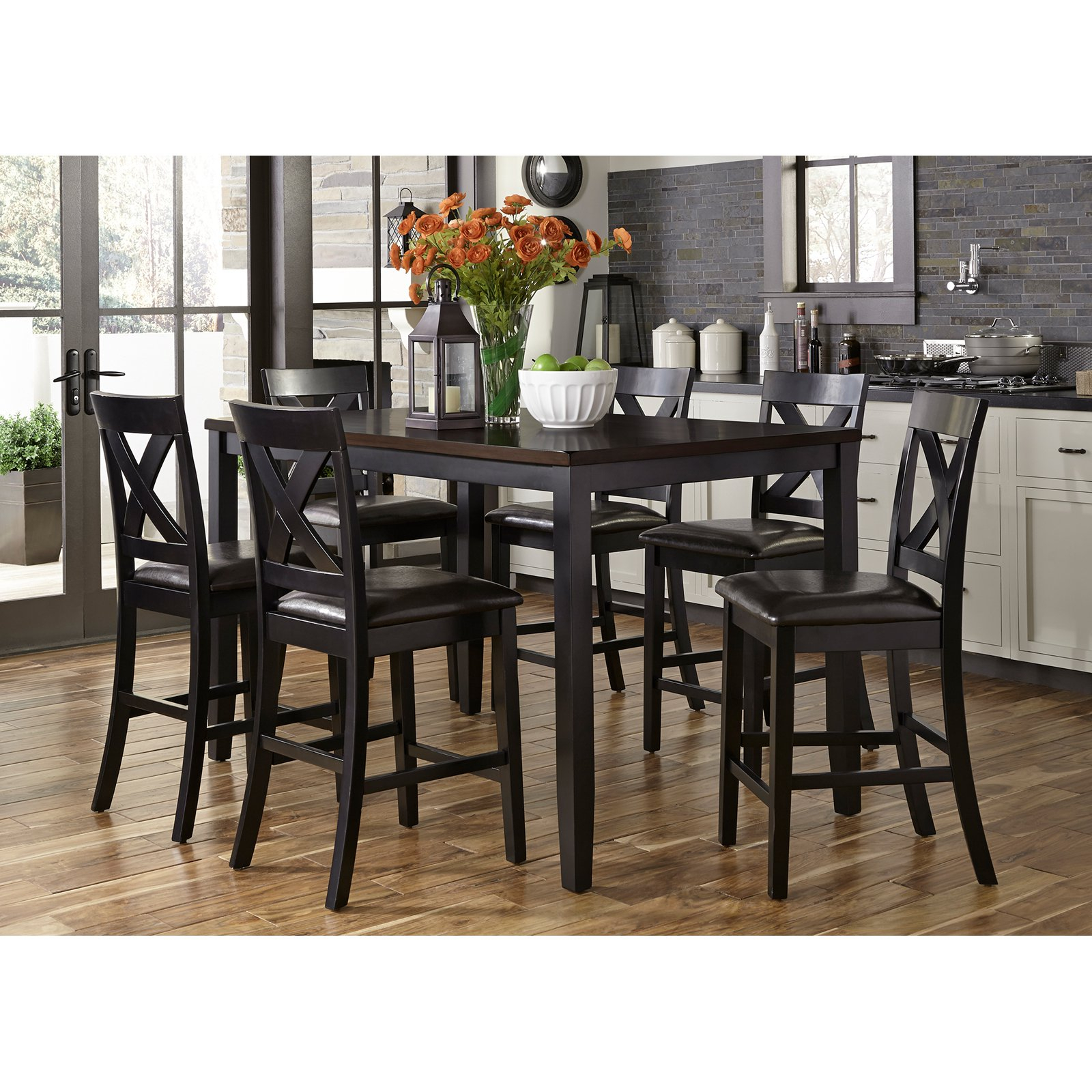 Liberty Furniture Industries Thornton Ii 7 Piece Counter Regarding 2018 Mcmichael 32'' Dining Tables (View 12 of 15)