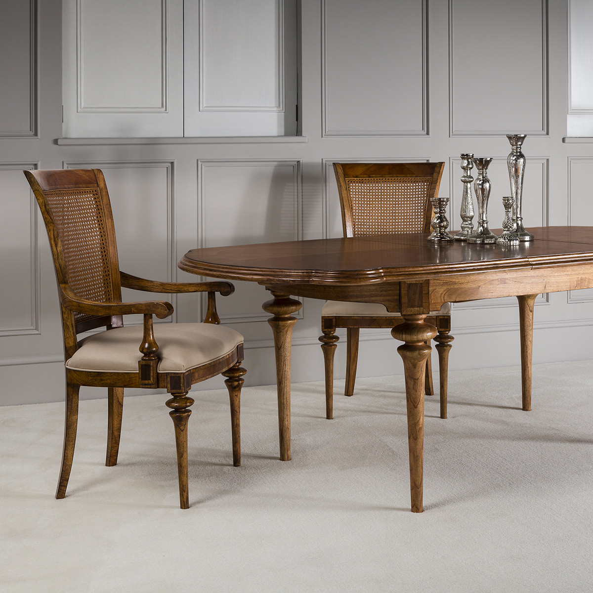 Lille Traditional French Oval Extending Dining Table Intended For Most Up To Date Classic Dining Tables (View 9 of 15)