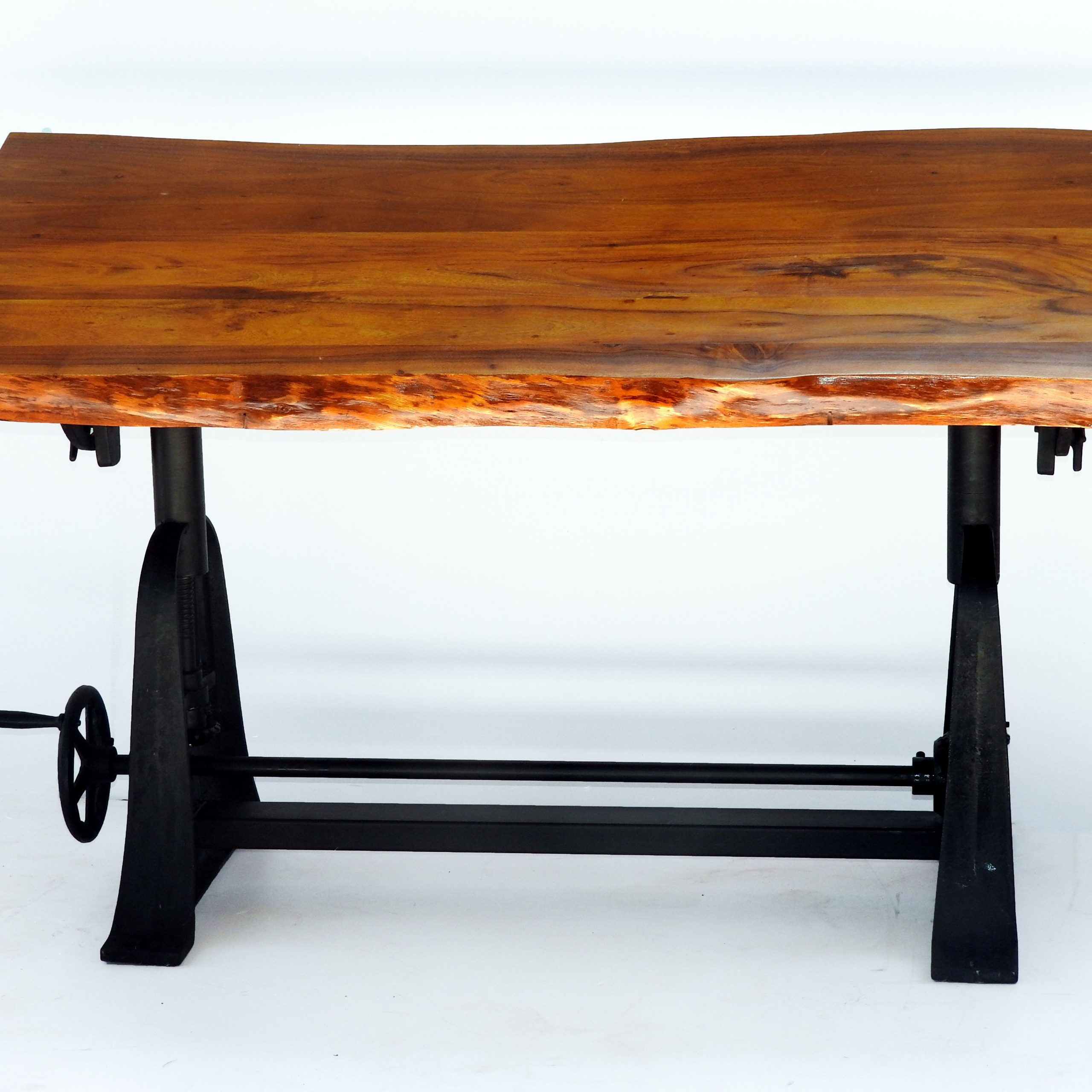 Live Edge Wood And Iron Table | Iron Table, Dining For Current Deonte 38'' Iron Dining Tables (View 8 of 15)