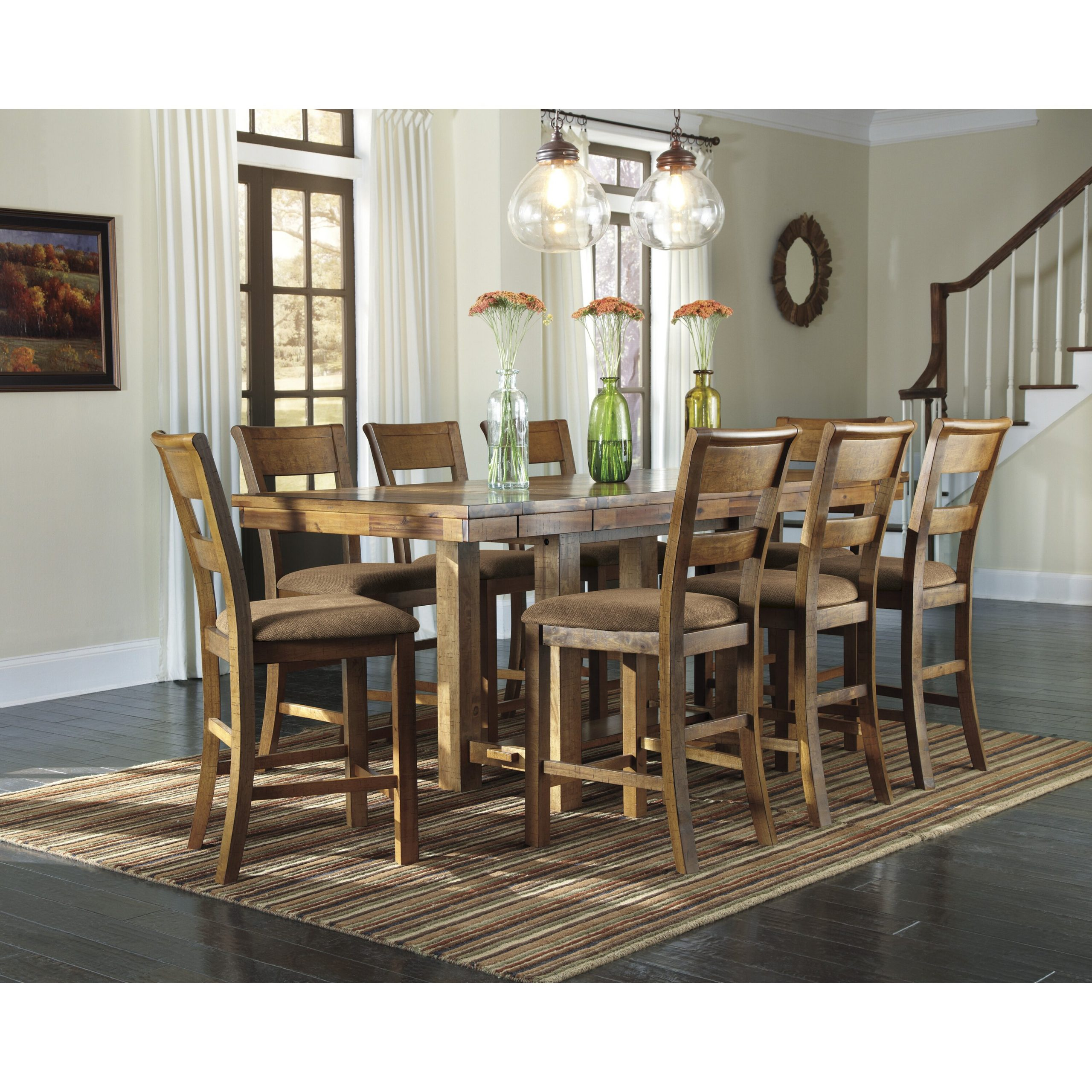Loon Peak Cowley Counter Height Extendable Dining Table Pertaining To Best And Newest Counter Height Extendable Dining Tables (View 2 of 15)