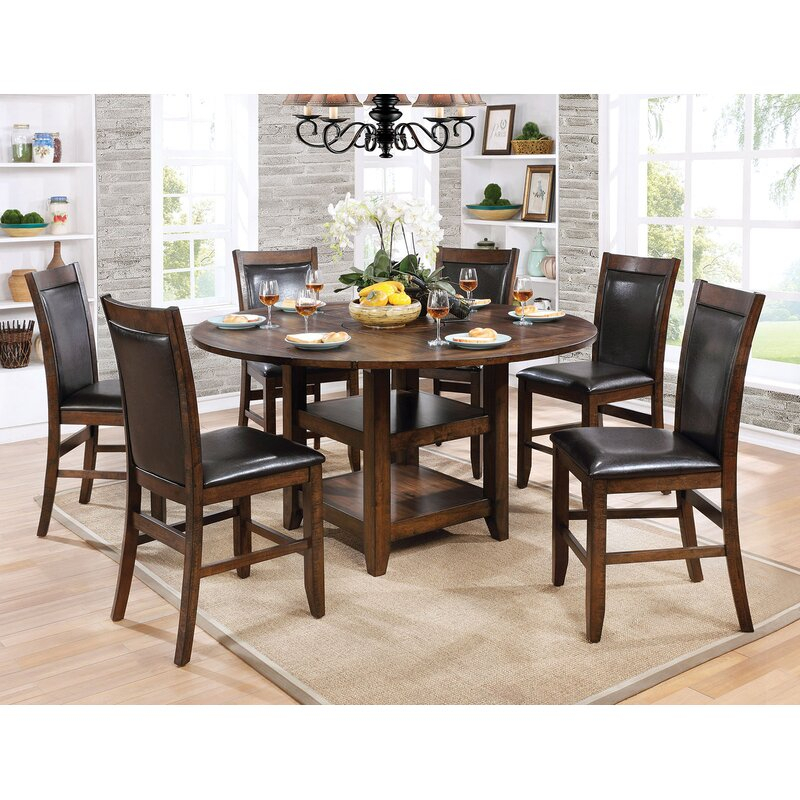 Loon Peak Herbert Counter Height Drop Leaf Dining Table Regarding Most Current Dankrad Bar Height Dining Tables (View 8 of 15)