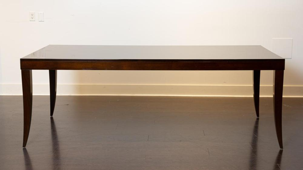 Lot – A Contemporary Rectangular Mahogany Dining Table, 30 Pertaining To Current Neves 43'' Dining Tables (Photo 3 of 15)