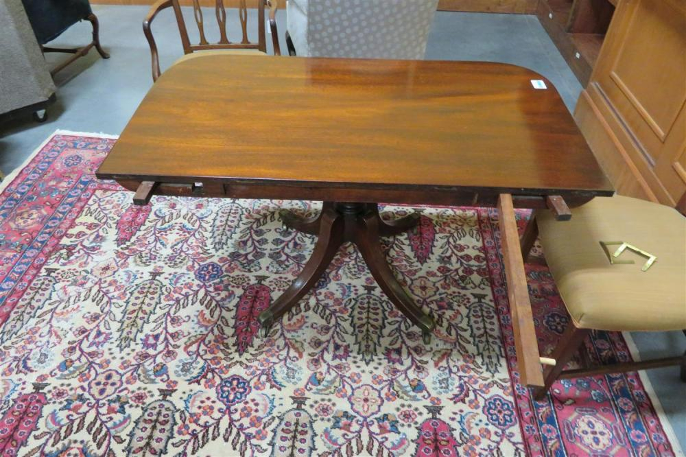 Lot – Georgian Style Mahogany Double Pedestal Dining Table Throughout Latest Steven 55'' Pedestal Dining Tables (View 15 of 15)