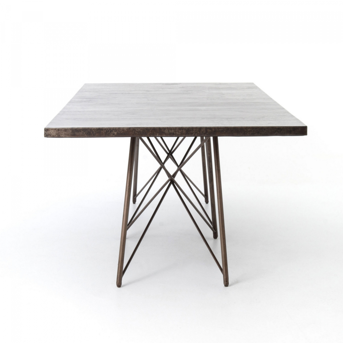 Luca Dining Table – Bronzed Iron Within Best And Newest Dellaney 35'' Iron Dining Tables (View 3 of 15)