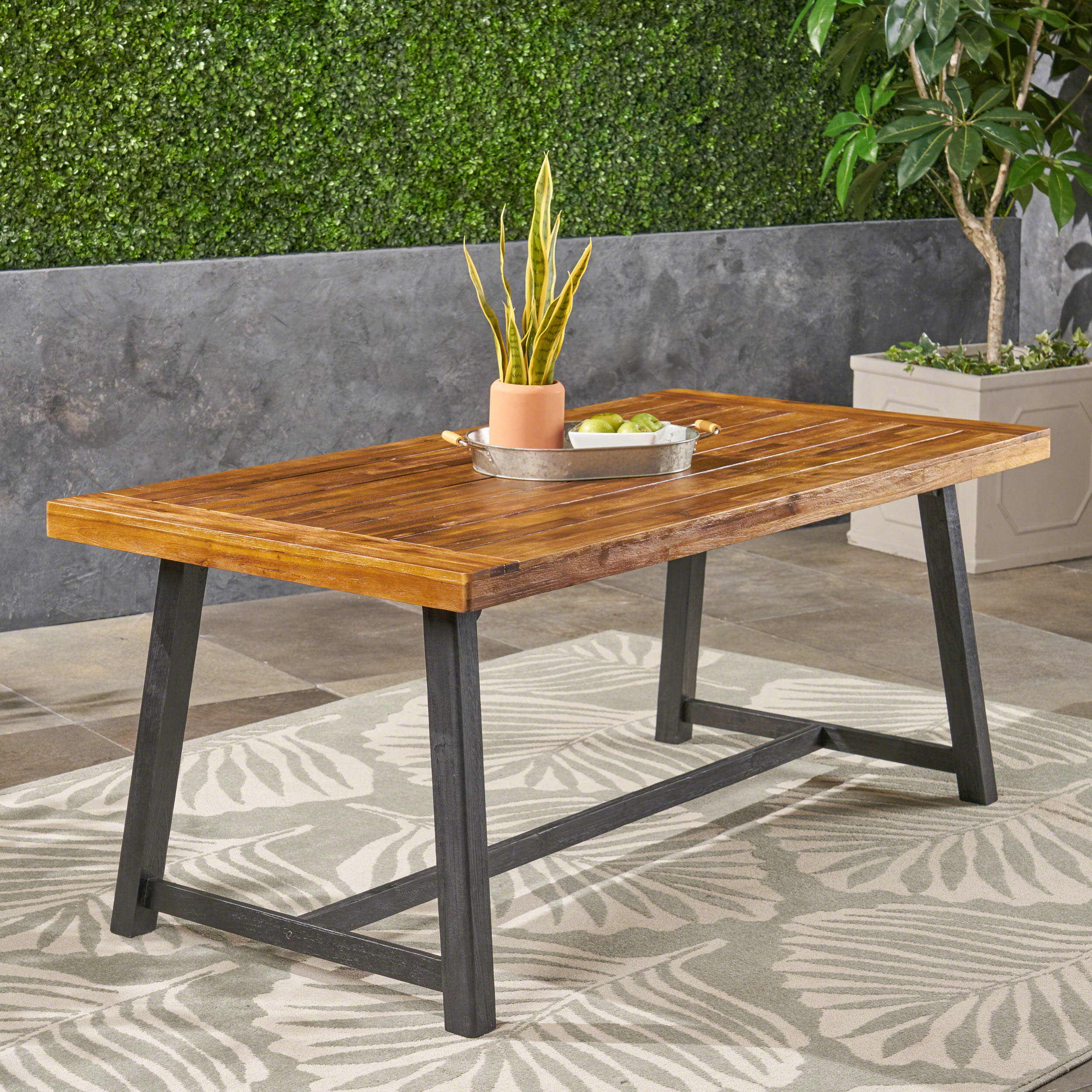 Luka Outdoor Acacia Wood Dining Table, Sandlblast Teak For Most Recently Released Nalan 38'' Dining Tables (View 9 of 15)