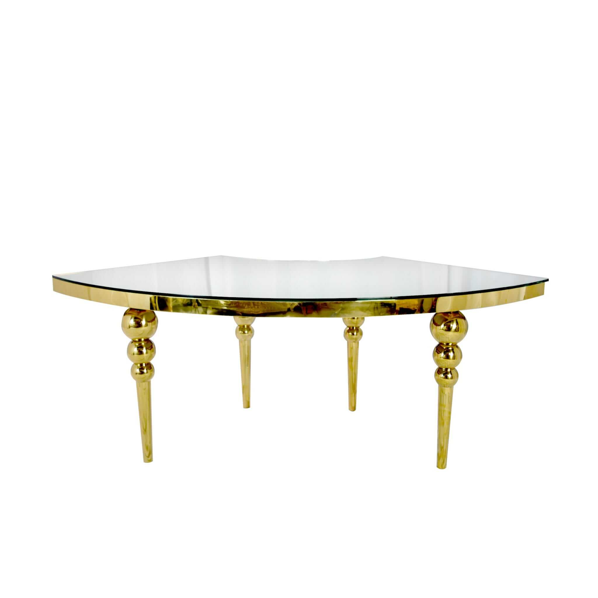 Luxembourg Serpentine Dining Table – Glam Party Rentals Pertaining To Most Recently Released Getz 37'' Dining Tables (View 15 of 15)