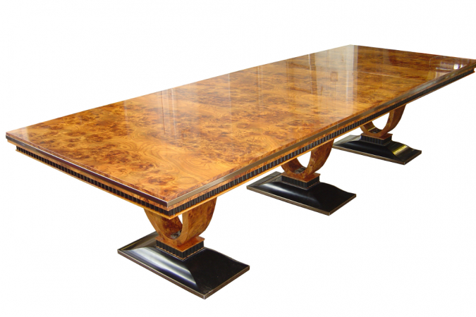 Luxury Art Deco Dining Tablerestall Brown & Clennell In Most Popular Clennell  (View 12 of 15)