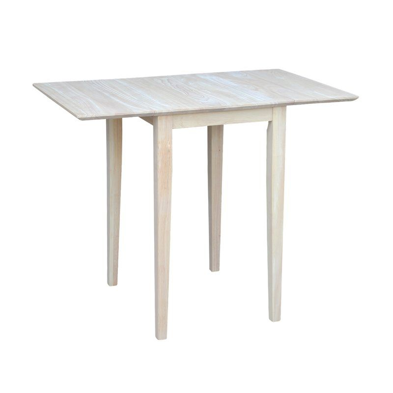 Lynn Extendable Drop Leaf Rubberwood Solid Wood Dining With Regard To Most Up To Date Katarina Extendable Rubberwood Solid Wood Dining Tables (View 8 of 15)