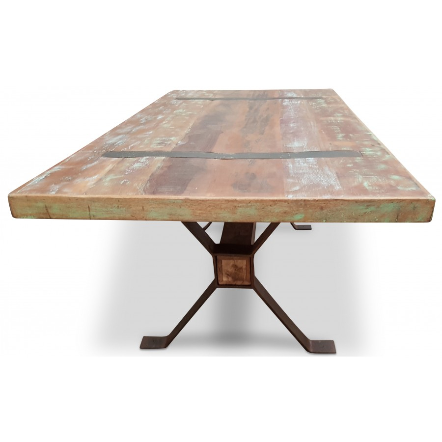 Magellan 2M Industrial Dining Table | Bare Outdoors With Best And Newest Baring 35'' Dining Tables (View 7 of 15)