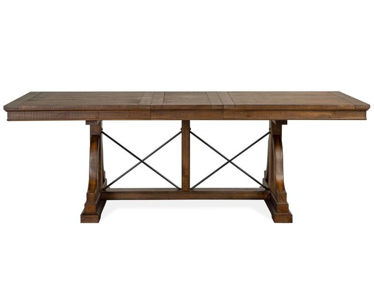 Magnussen Furniture Bay Creek 7Pc Trestle Dining Room Set Within Latest Alexxes 38'' Trestle Dining Tables (View 6 of 15)