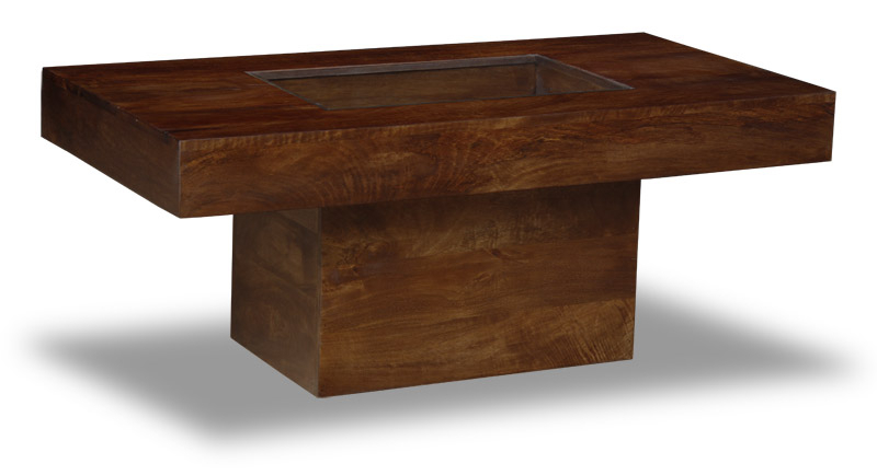 Manhattan Dark Solid Mango Furniture Large Pebble Coffee Intended For Most Popular Carelton 36'' Mango Solid Wood Trestle Dining Tables (View 9 of 15)