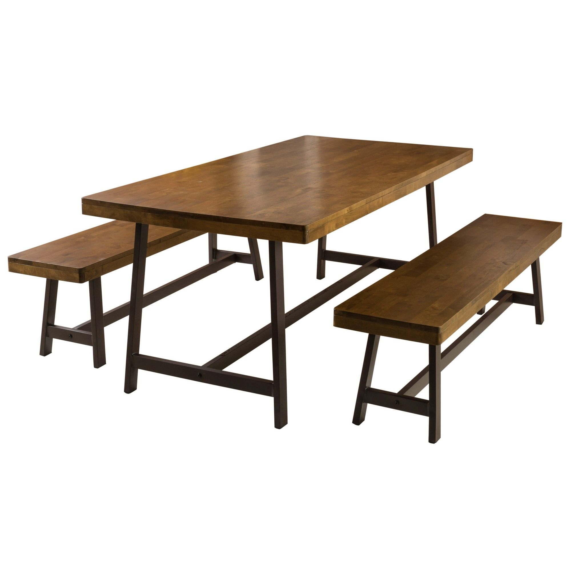 Marion 3 Piece Foldable Picnic Dining Set Brown Oak In Best And Newest Sapulpa (View 2 of 15)