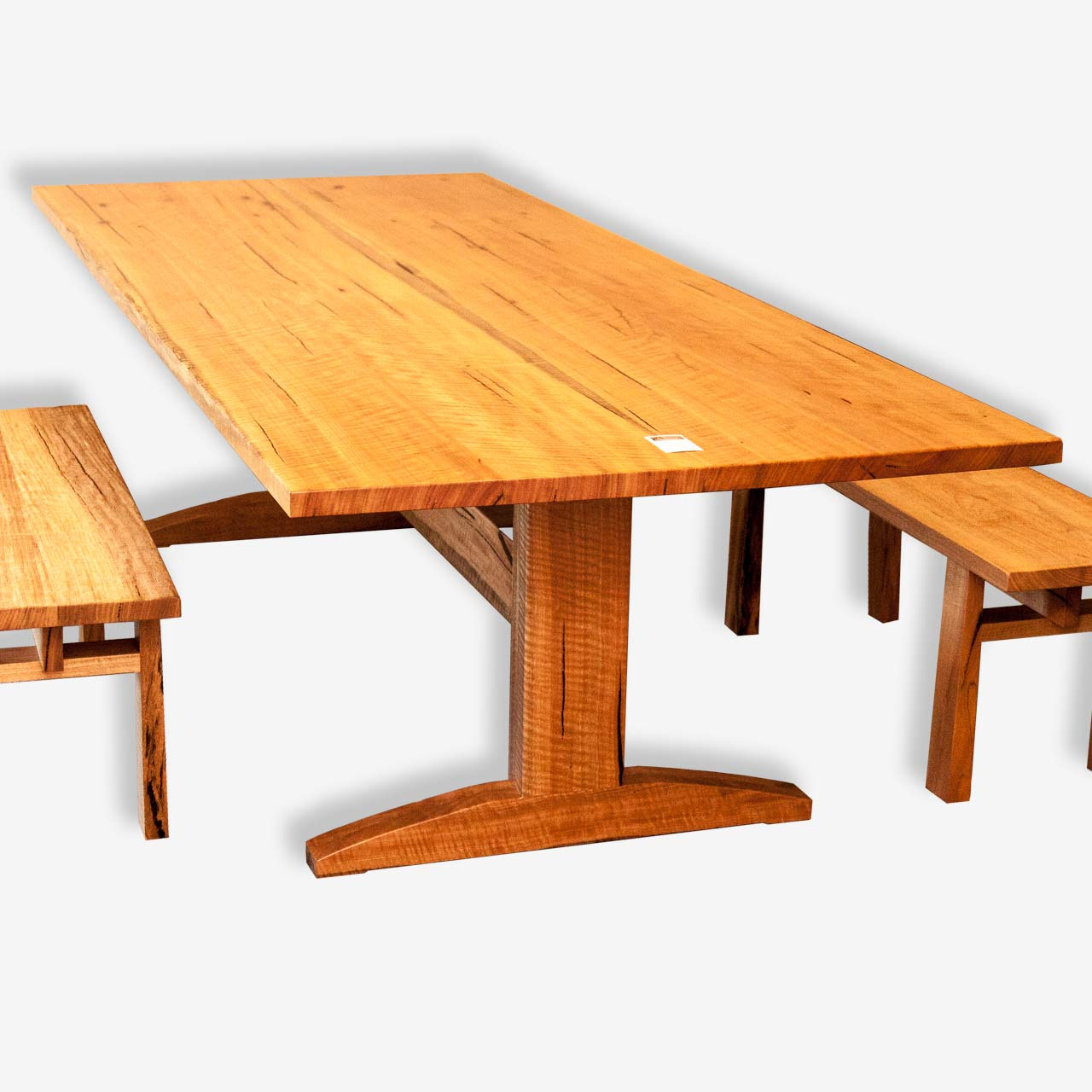 Marri Dining Table | 'Trestle' | Treeton Fine Wood Studio Pertaining To Best And Newest Nerida Trestle Dining Tables (View 9 of 15)
