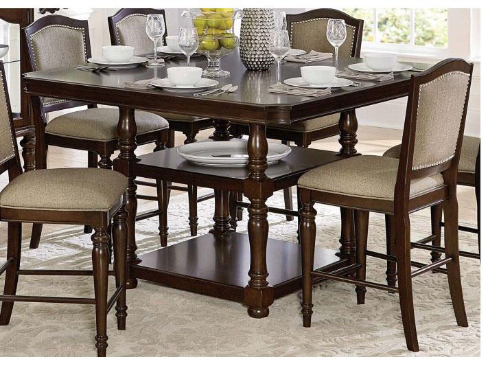 Marston Classic Dark Cherry Wood Counter Height Dining With Regard To 2018 Counter Height Dining Tables (View 7 of 15)