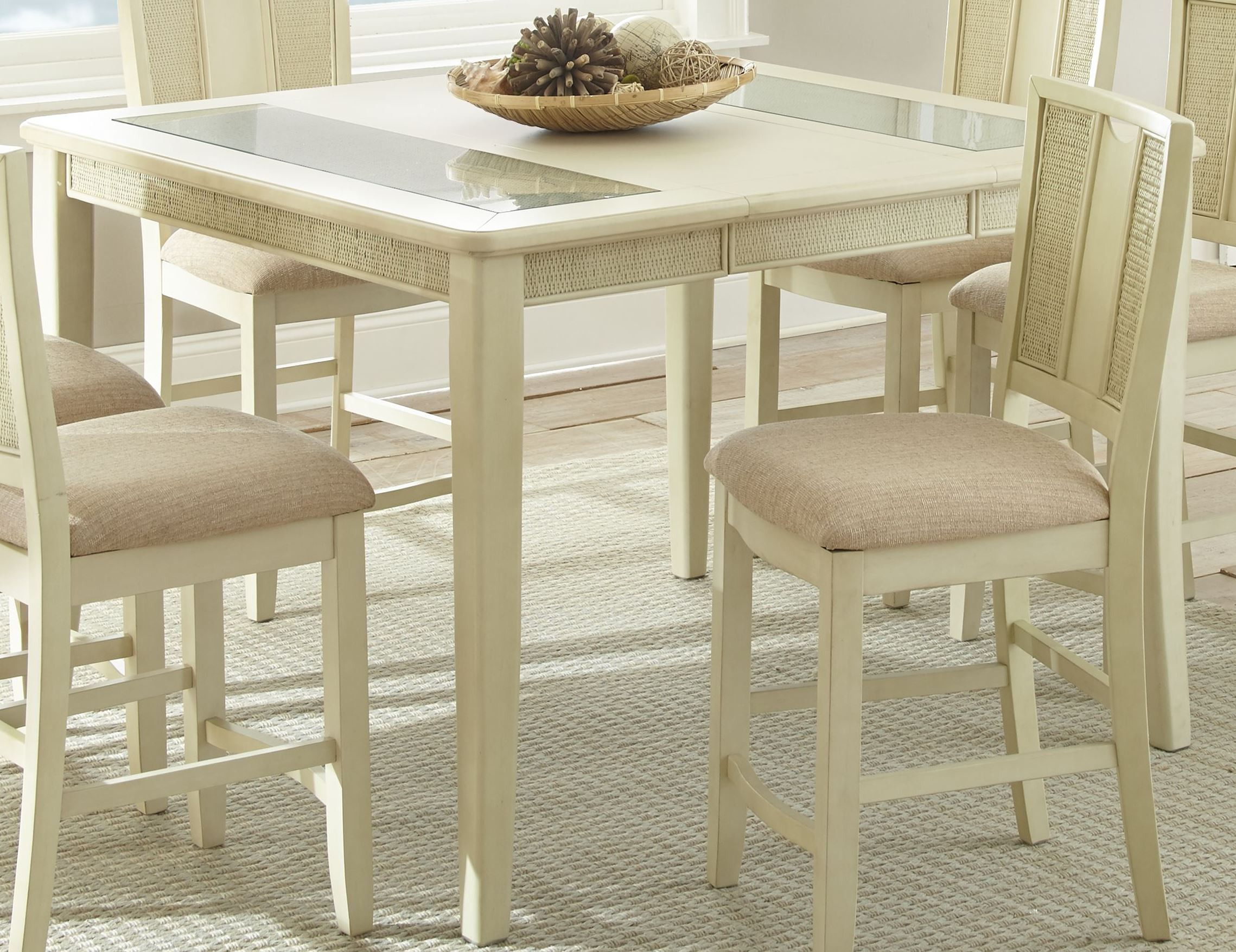 Melody White Extendable Rectangular Counter Height Dining Within Current Counter Height Extendable Dining Tables (View 5 of 15)