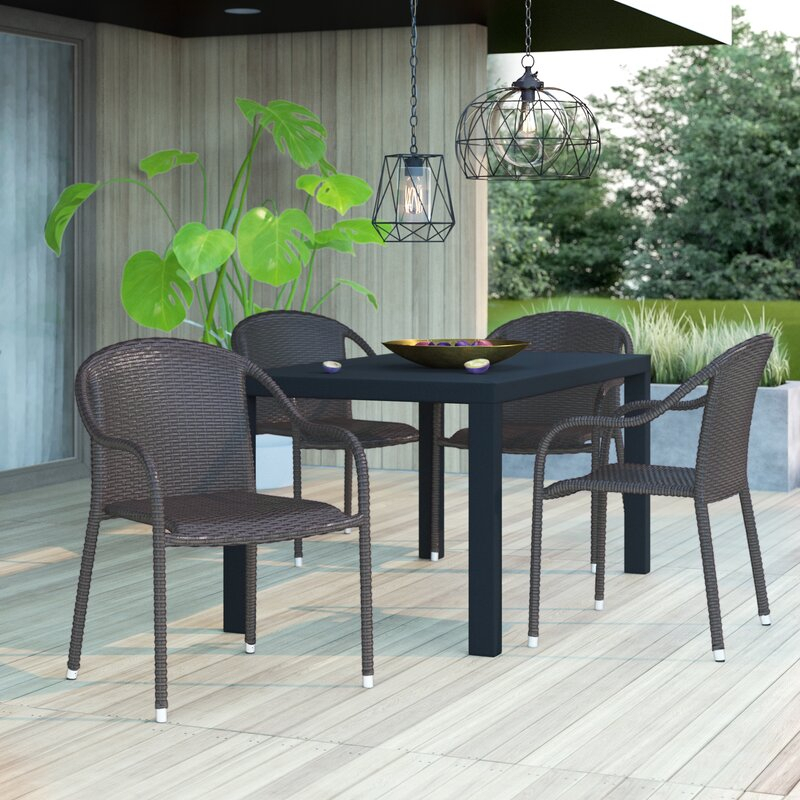 Mercury Row® Belton Stacking Patio Dining Chair & Reviews Pertaining To Current Belton Dining Tables (View 5 of 15)