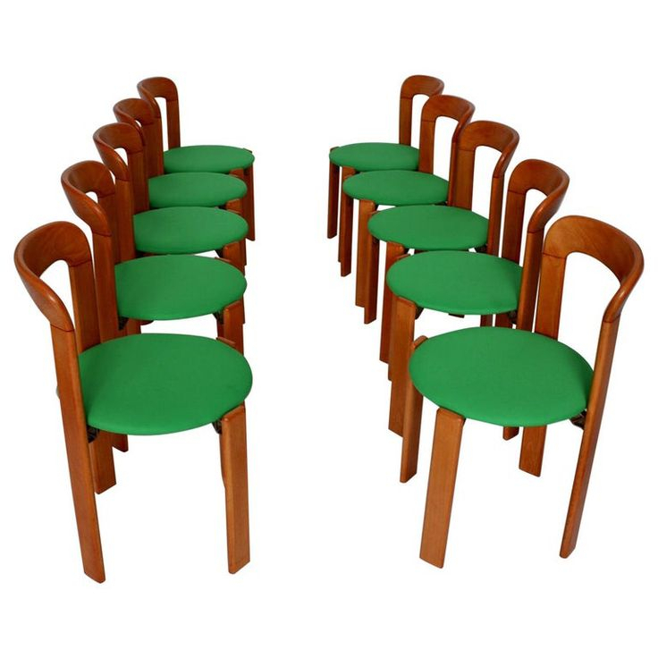 Mid Century Modern 24 Brown Wood Vintage Dining Chairs Intended For Latest Zeus  (View 7 of 15)