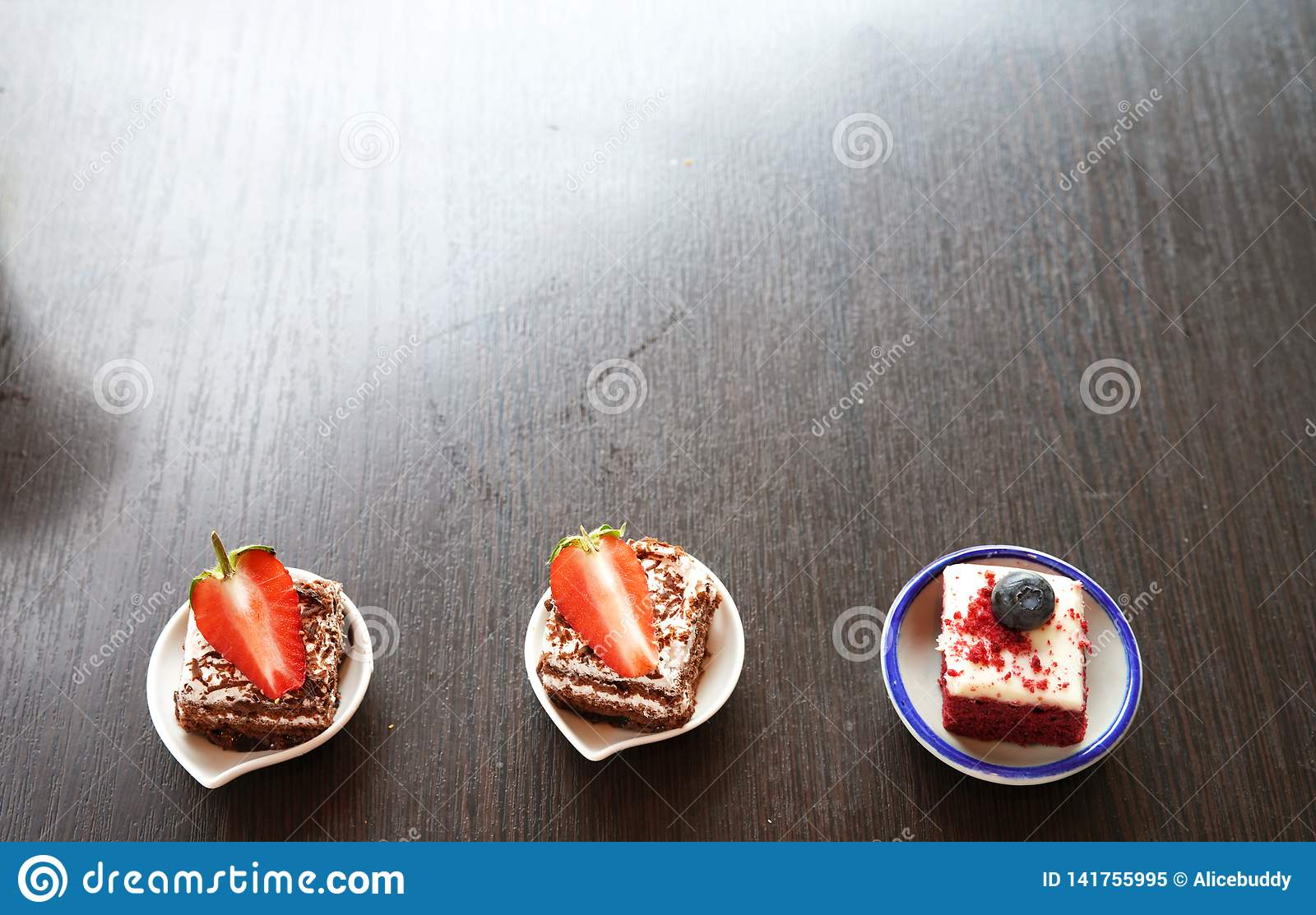 Mini Cake On The Table With Copy Space Stock Image – Image Pertaining To Best And Newest Candie  (View 15 of 15)