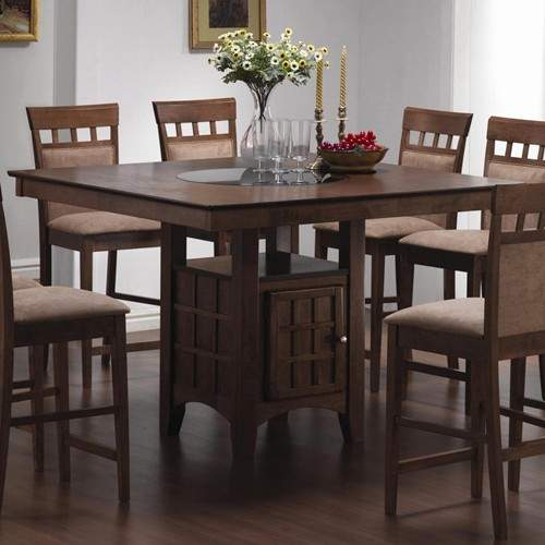 Mix & Match Counter Height Dining Table With Storage Inside Newest Counter Height Pedestal Dining Tables (View 9 of 15)