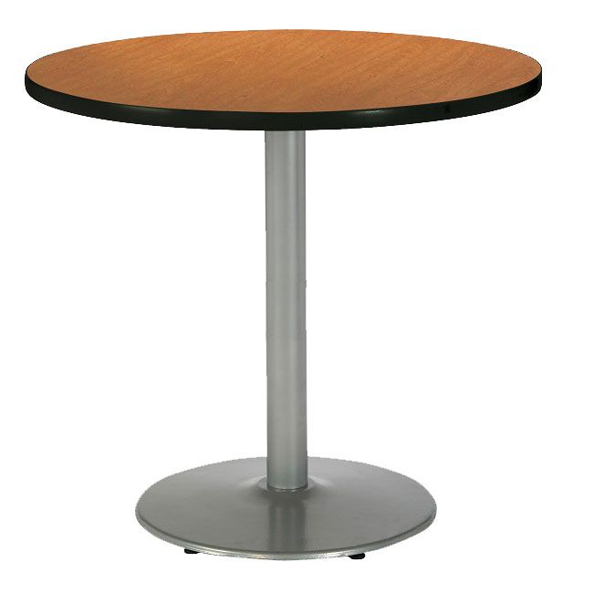 Mode Counter Height Cafe Table W/ Silver Round Basekfi With Recent Mode Round Breakroom Tables (View 15 of 15)