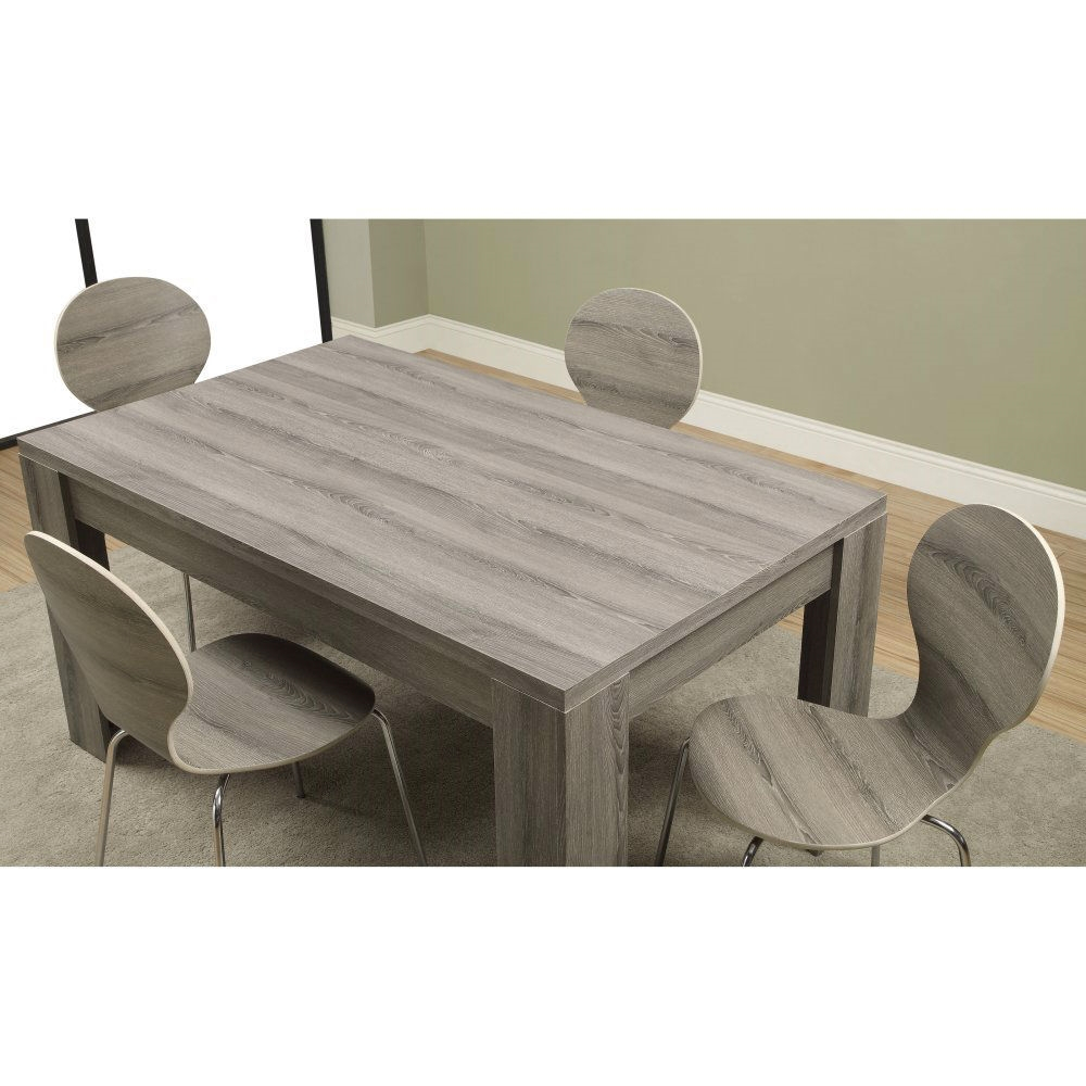 Modern 60 X 36 Inch Dark Taupe Rectangular Dining Table Intended For Recent Menifee 36'' Dining Tables (View 14 of 15)