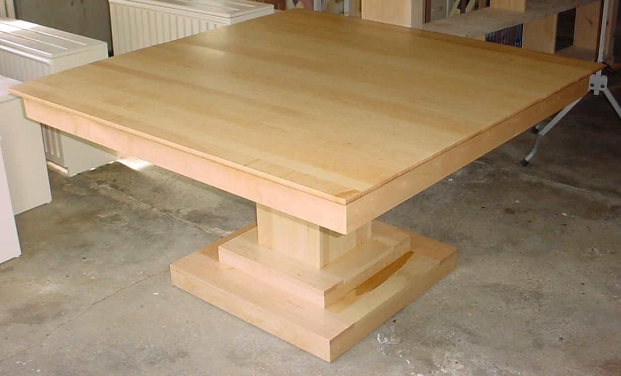 Modern Pedestal Table Bases |  Contemporary Solid Regarding Most Recent Drake Maple Solid Wood Dining Tables (View 11 of 15)