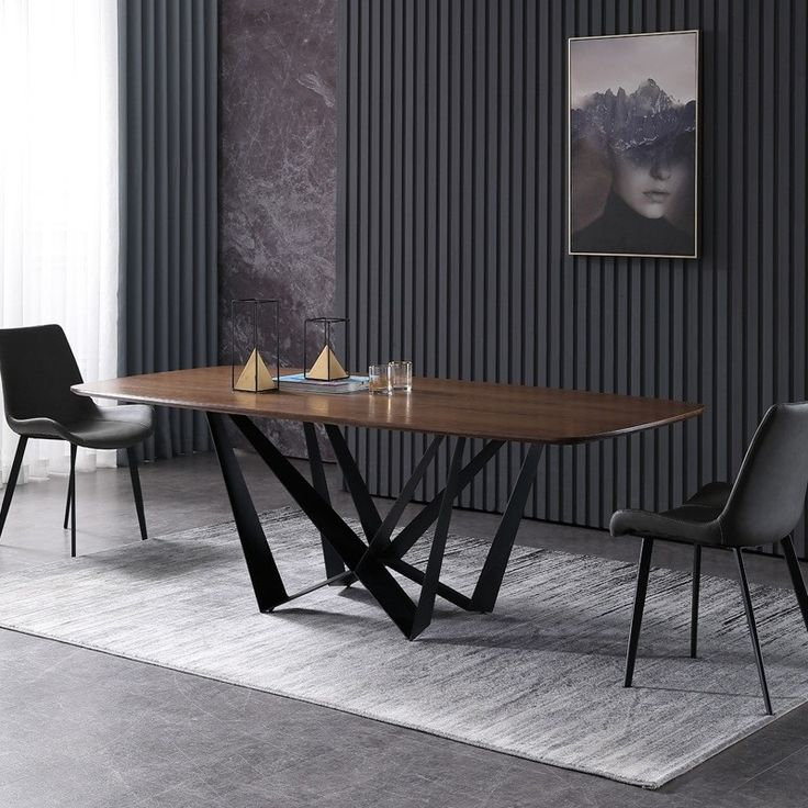 """Modern Rustic Rectangular 63""""/71"""" Dining Table Solid Wood For Most Popular Canalou 46'' Pedestal Dining Tables (View 13 of 15)"""