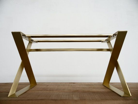 """Modern Solid Brass Gold Dining Table Base , 28"""" H X 24"""" W In Most Recent Joyl  (View 8 of 15)"""