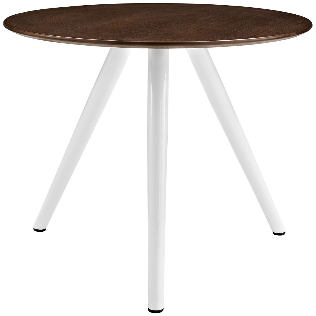"""Modway Lippa 36"""" Round Walnut Top Dining Table With Tripod Regarding Current Montauk 36'' Dining Tables (View 14 of 15)"""