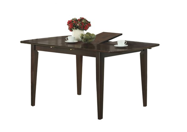 """Monarch 60"""" X 36"""" Rectangular Wooden Butterfly Leaf Dining Throughout Newest Warnock Butterfly Leaf Trestle Dining Tables (View 13 of 15)"""