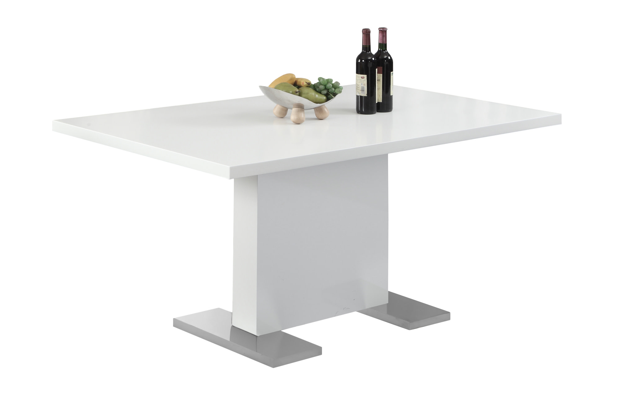 """Monarch Dining Table 35""""X 60"""" / High Glossy White Throughout Newest Baring 35'' Dining Tables (View 14 of 15)"""