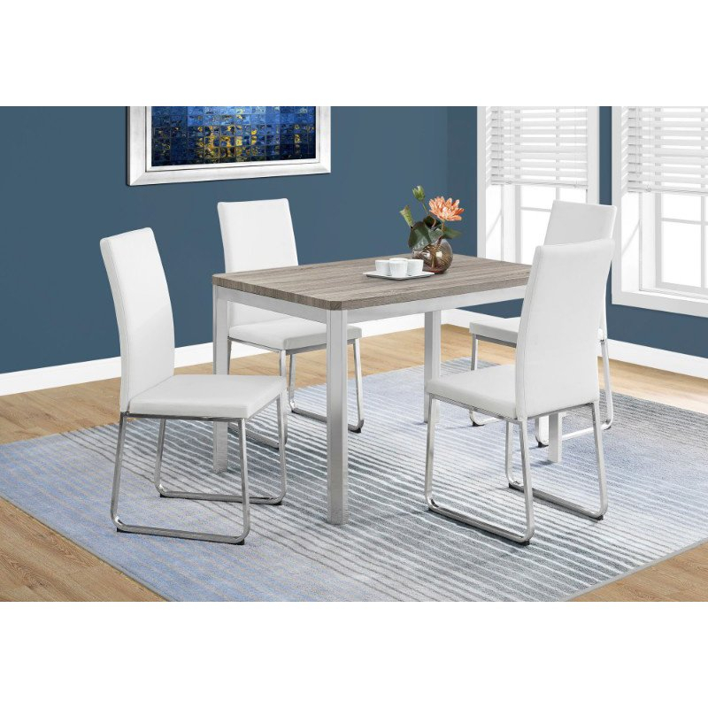 """Monarch Specialties 32"""" X 48"""" Dining Table In Dark Taupe Pertaining To Recent Cainsville 32'' Dining Tables (View 15 of 15)"""