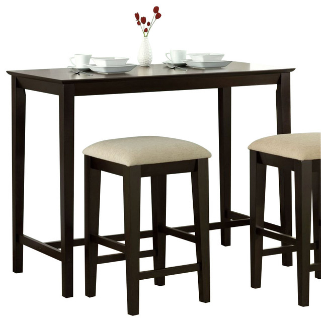 Monarch Specialties 48 X 24 Counter Height Kitchen Table With 2017 Adsila 24'' Dining Tables (Photo 10 of 15)
