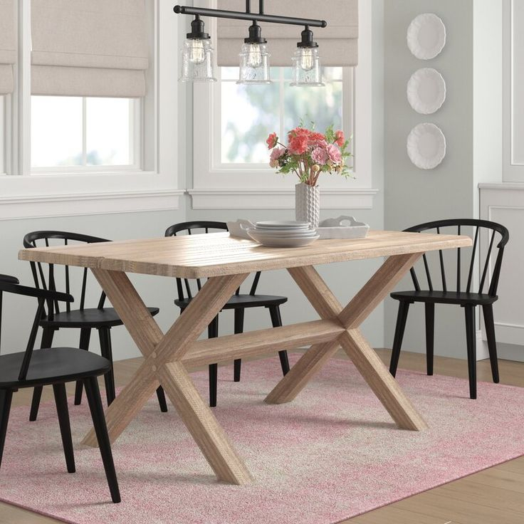 Montauk Solid Wood Dining Table | Solid Wood Dining Table Intended For Most Popular Montauk (View 4 of 15)