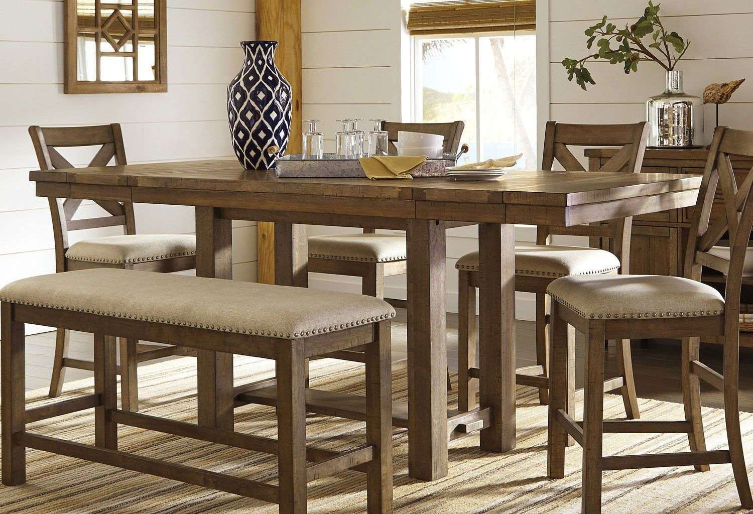 Moriville Counter Height Dining Table | Counter Height Within Most Current Dawid Counter Height Pedestal Dining Tables (View 5 of 15)
