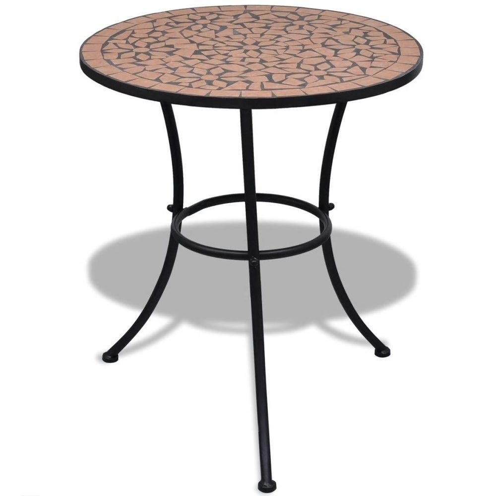 """Mosaic Table 23.6"""" Terracotta, Brown, Liveditor(Iron) In For Latest Grimaldo  (View 2 of 15)"""