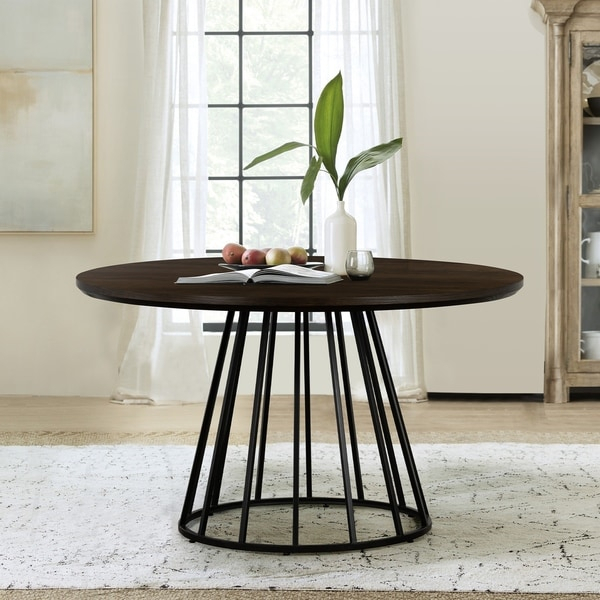 Motion Oak And Metal Round Dining Table – On Sale Intended For 2017 49'' Dining Tables (View 7 of 15)