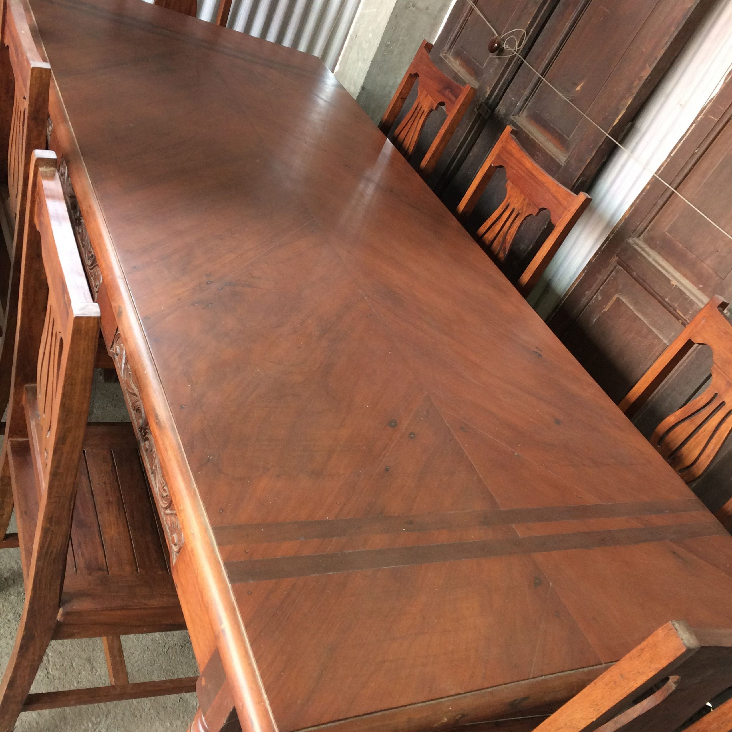 """My Vintage 8 Seater """"Narra"""" Dining Table — Inlaid Wood In Most Recent Nalan 38'' Dining Tables (View 15 of 15)"""