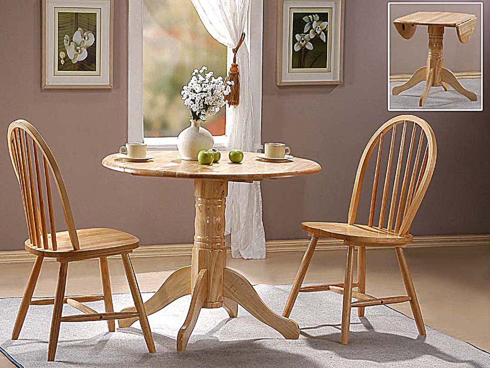 Natural Finish Extending Extendable Dining Table And Chair Within Most Recently Released Villani Drop Leaf Rubberwood Solid Wood Pedestal Dining Tables (Photo 11 of 15)