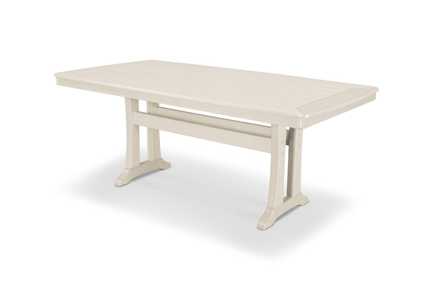"""Nautical Trestle 38"""" X 73"""" Dining Table Pl83 T2L1 Throughout 2018 Alexxia 38'' Trestle Dining Tables (View 6 of 15)"""
