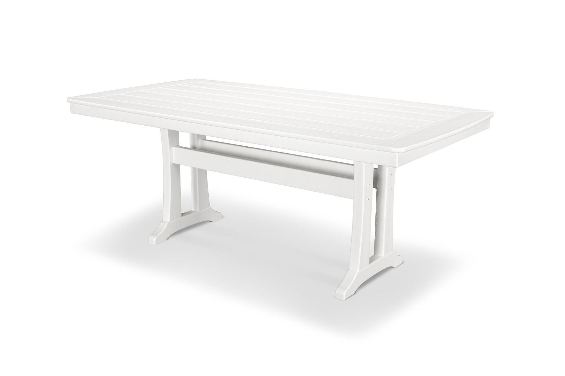 """Nautical Trestle 38"""" X 73"""" Dining Table Pl83 T2L1 With Regard To Latest Alexxes 38'' Trestle Dining Tables (View 5 of 15)"""