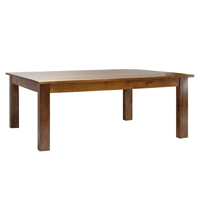 Neasham Solid Mango Wood Timber Dining Table, 180Cm With Regard To Best And Newest Alfie Mango Solid Wood Dining Tables (View 4 of 15)