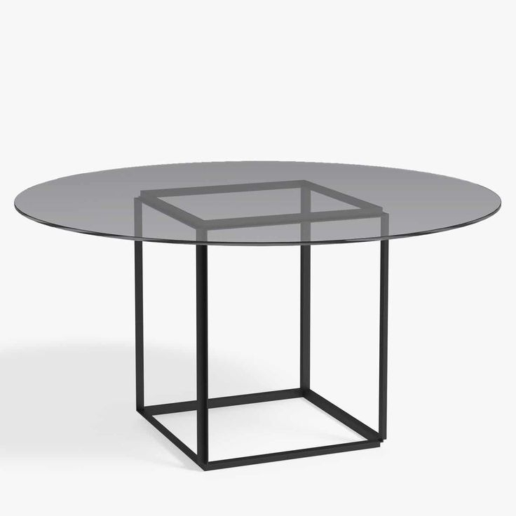 New Works Furniture Florence Dining Table Iron Smoked Intended For Newest Deonte 38'' Iron Dining Tables (View 7 of 15)