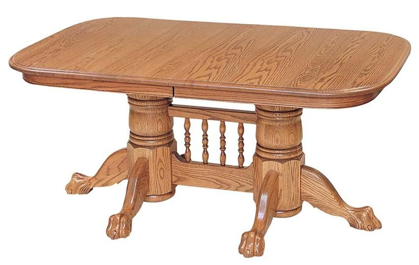 Newport Double Pedestal Dining Tablekeystone For Newest Dawna Pedestal Dining Tables (View 14 of 15)