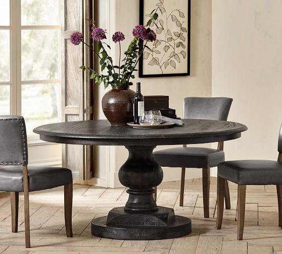 Nolan Round Pedestal Dining Table   Pottery Barn Regarding 2018 Villani Pedestal Dining Tables (View 11 of 15)