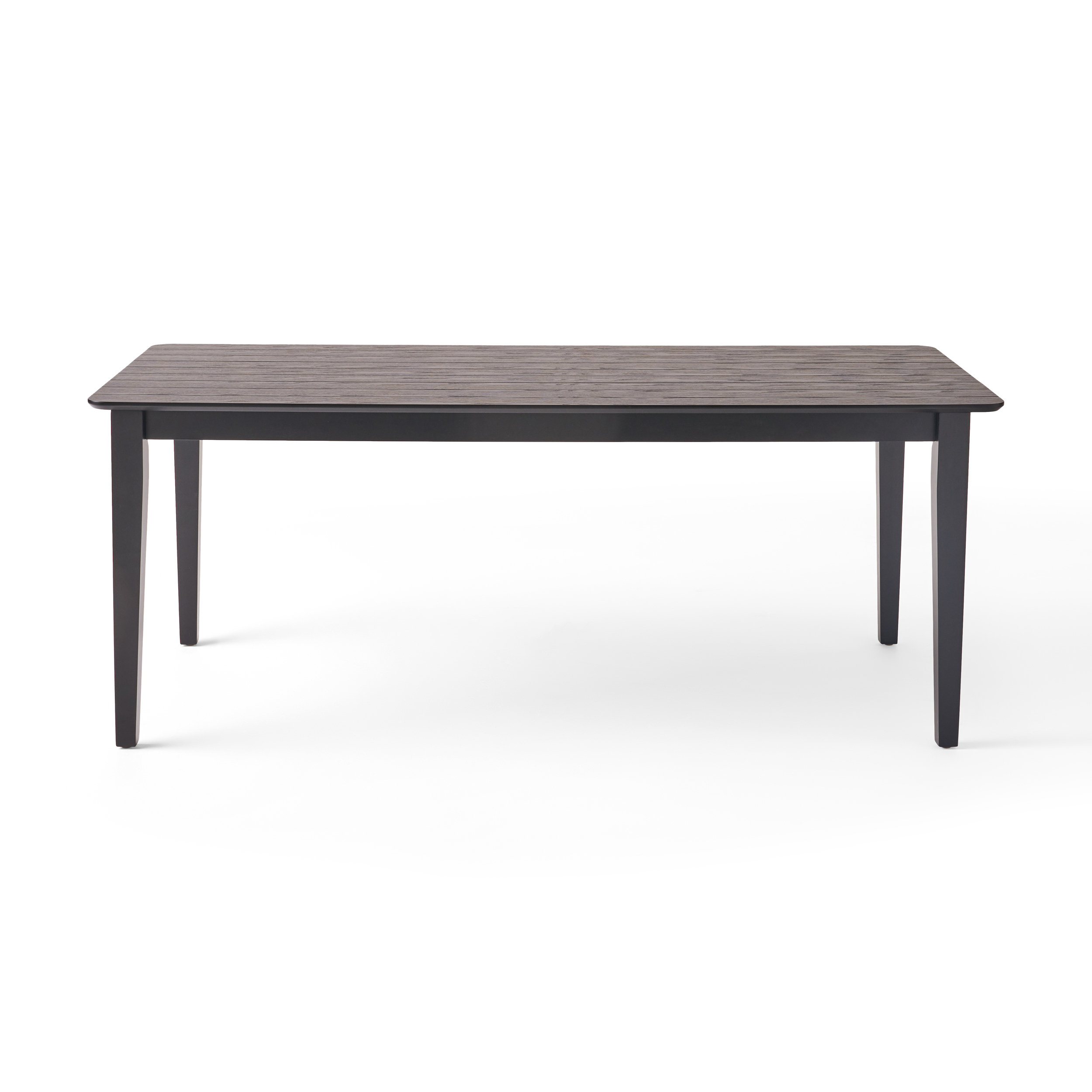 Odelia Rectangular 8 Seat Farmhouse Dining Table, Black Throughout Newest Nalan 38'' Dining Tables (View 10 of 15)