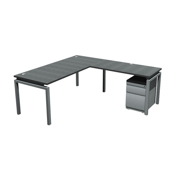 """Ofd Bi7230R4824 Bench It L Shape With 72"""" X 30"""" Desk And Intended For Current 72"""" L Breakroom Tables And Chair Set (View 4 of 15)"""