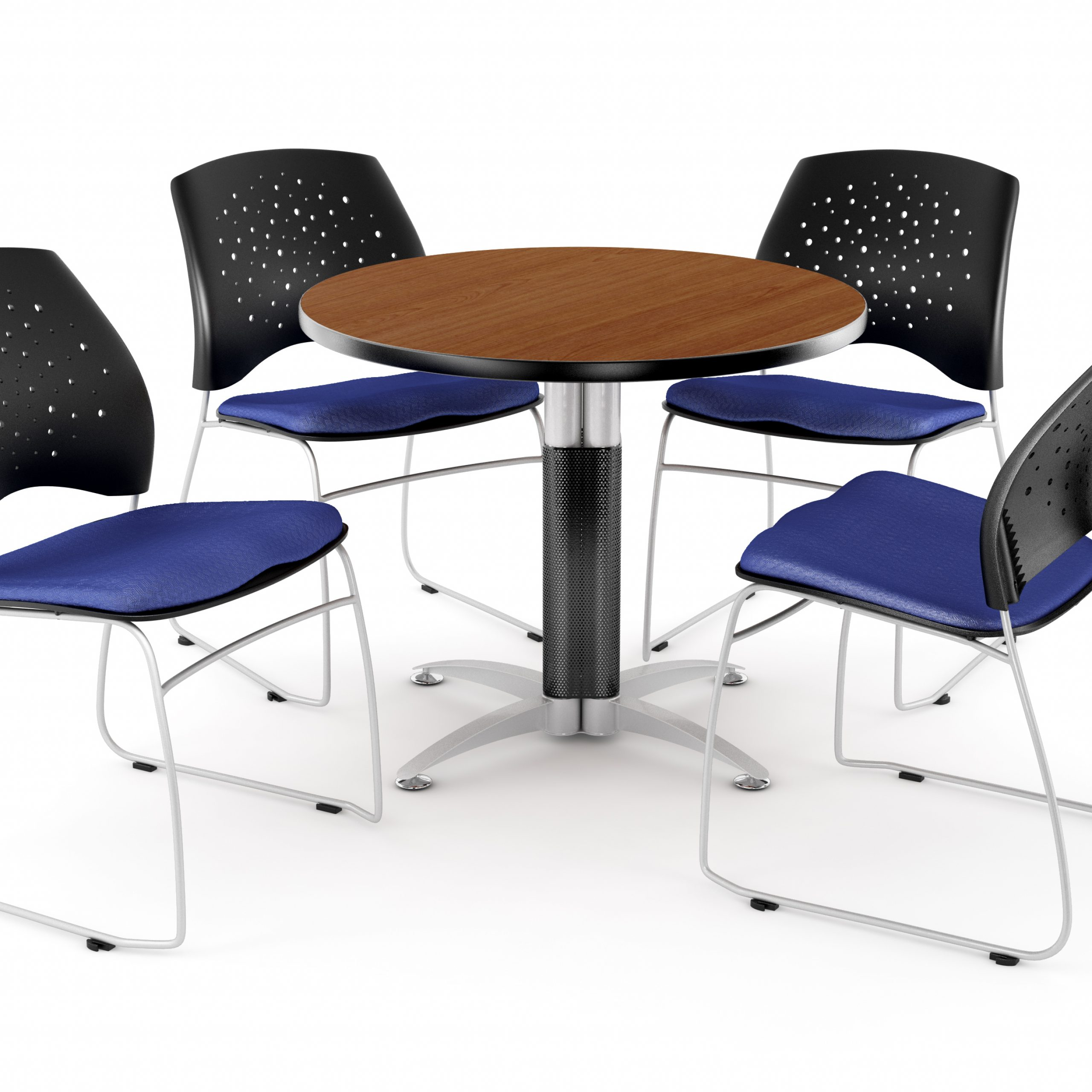 """Ofm Core Collection Breakroom Bundle, 42"""" Round Metal Mesh Within Most Current Mode Round Breakroom Tables (View 8 of 15)"""